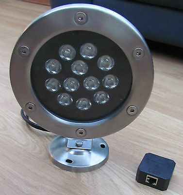 JCC Combi LED red Aqua high powered spot light IP68 In & around water. Pond pool