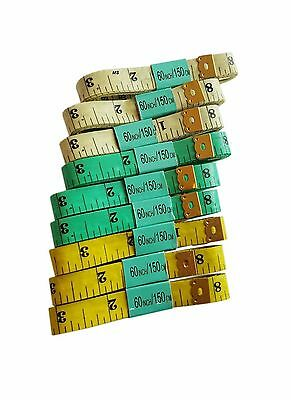 12 X 60 1.5M SEWING TAILOR SOFT FLAT FABRIC TAPE MEASURE WHOLESALE IN 3 Colour