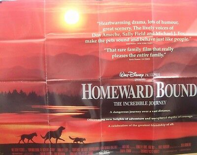 Michael J Fox  HOMEWARD BOUND(1993) Original UK quad movie poster UK POST FREE