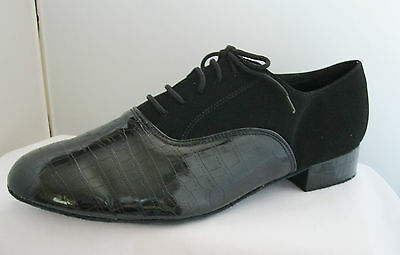 Mens Black Ballroom, Jive, Latin, Tango, Salsa Dance Shoes - Sizes 7 - 12