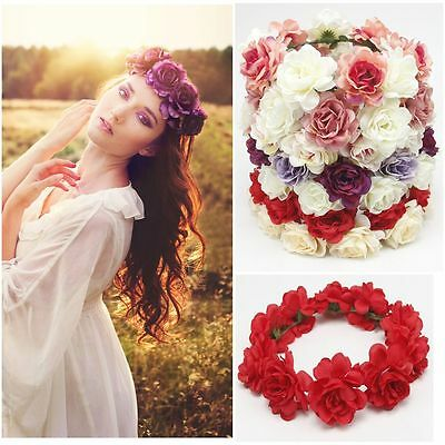 Floral Crown Hair Band Headband Flower Hair Garland Wedding Wreath