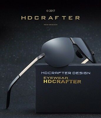 HDCRAFTER 2017 Men High Quality Polarized Brand Driving Sunglasses UV400 Box