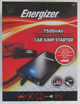 NEW Energizer Car Jump Starter Kit Includes Jump Leads & Torch - Amazon Price£99