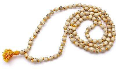 Tulsi / Holy Basil Mala 108 +1 Bead knotted 100% Original Prayer Natural Rosary