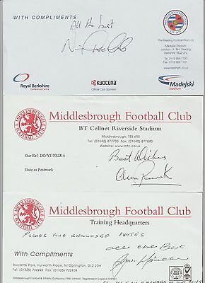 Official MIDDLESBROUGH compliment slip signed by ALAN PEACOCK