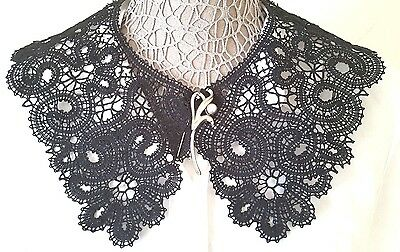 EXQUISITE new  handmade large  Vologda bobbine lace collar