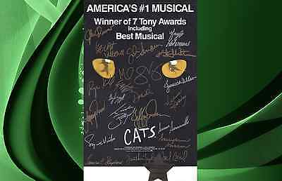 CATS Original Broadway Closing Night Cast Signed Poster w/ Dated Seal 9-10-2000