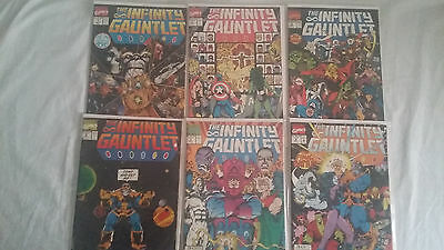 The Infinity Gauntlet #1 #2 #3 #4 #5 #6 FN to VF Complete Collection