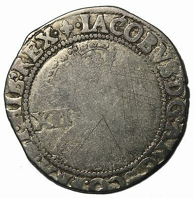 Great Britain James I 1603-1625 AD Silver Shilling Medieval Coin S.2646