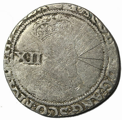 Great Britain James I 1603-1625 AD Silver Shilling S.2655 Medieval Coin
