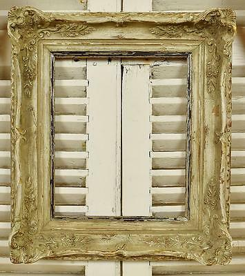Fantastic Distressed Antique French Gesso On Wood Picture Frame, 19th C - B855