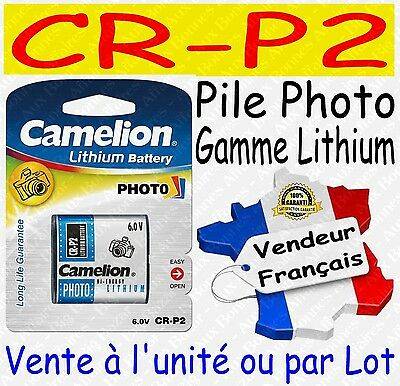 Piles Photo Lithium 6V : CR-P2 223 DL223A CRP2 ( vente à l'unité ou par lot )