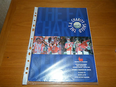 MANCHESTER UNITED v ARSENAL 1993 CHARITY SHIELD PROGRAMME