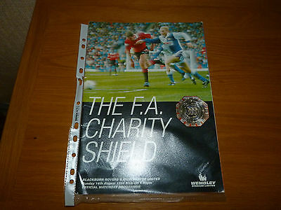MANCHESTER UNITED v BLACKBURN ROVERS 1994 CHARITY SHIELD PROGRAMME