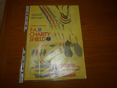 MANCHESTER UNITED v EVERTON 1985 CHARITY SHIELD PROGRAMME