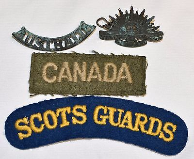 Australian Commonwealth Military Forces Cap Badge Patch Lot felt wool WW2 Canada