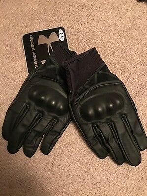 Under Armour UA Hard Knuckle Tactical Gloves Leather Men's Size XL NWT $90