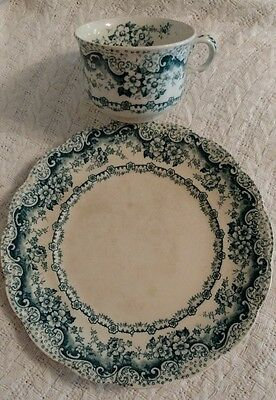 """colonial pottery stoke england """"lucerne"""" plate and cup"""