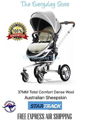 Medical Australian Sheepskin (Lambswool) Baby Pram Stroller Car Seat Liner 37MM