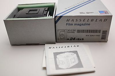 MINT-Hasselblad-A24-Film-Back-Magazine-6x6-The-final-type-IV-chrome boxed instru