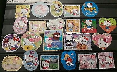 Lot timbres Hello kitty Japon