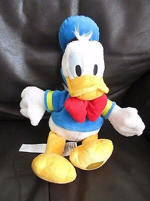 DONALD DUCK beanie bean plush soft toy VGC Disney Store