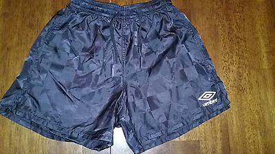 Umbro Boys Girls Black Athletic Shorts Size XS