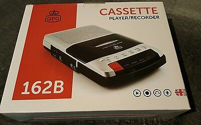 Cassette Player Desk Top Portable Tape Recorder