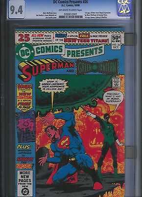 DC Comics Presents # 26 CGC 9.4 Off White to White Pages. UnRestored