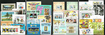 (C2-41-44)30 different Souvenier sheets from the world,MNH