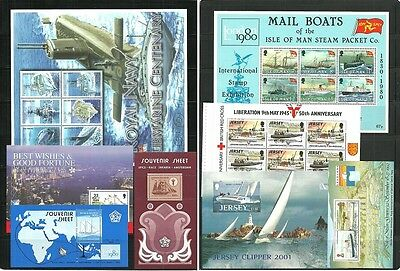 (T1-35-36)Jersey,Isle of Man,Indonesia,great sheets lot,MNH