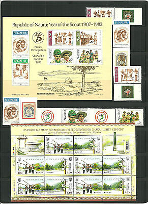 (T1-12)STAMPS,Scout Lot,Sheets, carnet, and sets, MNH(carnet cancelled)
