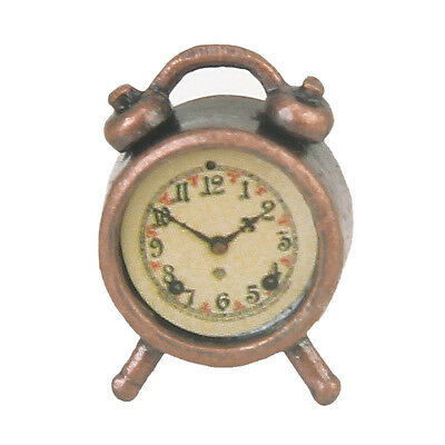 1/12 Dollhouse Miniature Living Metal Alarm Clock H9F5