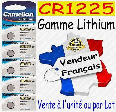 Piles/Battery Lithium 3V CR1225 CR2032 CR2025 CR2016 CR2430 CR2450 ( au choix )