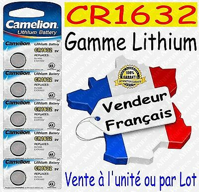 Piles/Battery Lithium 3V CR1632 CR2032 CR2025 CR2016 CR2430 CR2450 ( au choix )