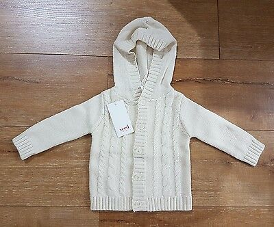 NEW Seed Heritage Baby Unisex Cable Knit Cardigan Size 00 RRP59.95