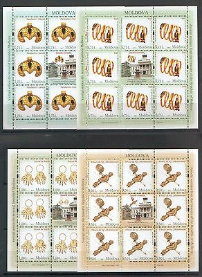 Moldova 2017 Archaeology Museum Treasures MNH stamps Full sheets