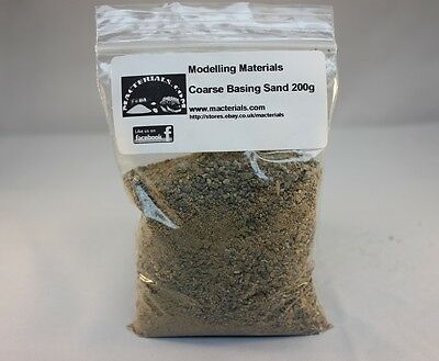 Macterials Model Basing Sand 200g - Coarse Grade -Kiln Dried -First Class Post