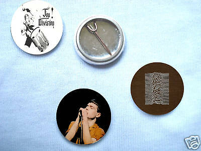 Joy Division- Set Of 3 Badges Ian Curtis New Order
