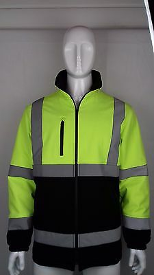 Night Vision Waterproof Safety/Work Jacket with Thermal Lining, Reflective Strap