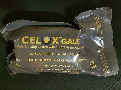 Army Issue CELOX Haemostatic Gauze For Life Threatening Emergency Bleeding 2