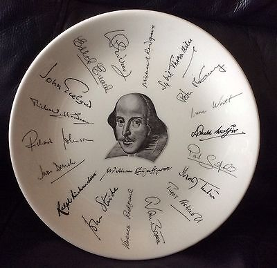 """8"""" Holkham Pottery. Plate. Shakespeare Exhibition. 1564 1964."""