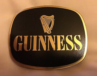 Guinness Pump Clip / Badge - Solid Brass / Vintage / New Condition