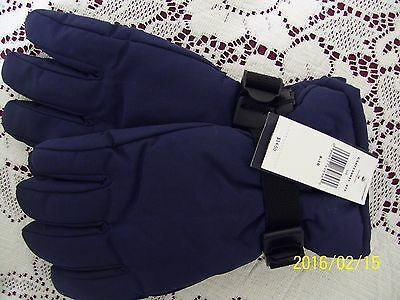 NWT Tommy Hilfiger Navy Blue Polyester boy girl gloves size 8-10 adjustable