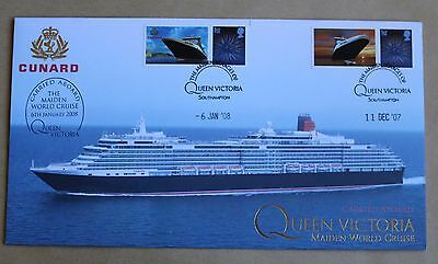 Cunard Queen Victoria Maiden Voyage 2007 Buckingham Cover Carried Aboard