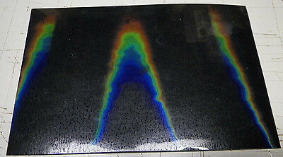 "holographic overlay self adhesive vinyl 4""x6"" (5 sheets)see pics & description"