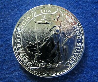 2016 Britannia Of Great Britain UK £2 Silver 1oz coin
