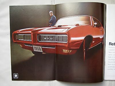 1968 PONTIAC GTO COUPE - Original  Print Car Ad - Excellent Condition