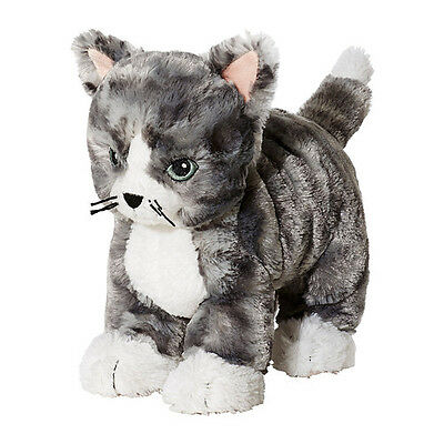 Ikea Soft Toy Cat Lilleplutt Grey-White Safe Toy Easy To Hug For Kids, Children