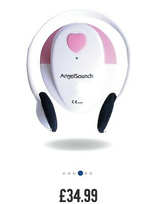 NEW Angelsounds fetal doppler heartbeat monitor. UK.  Comes with GEL and battery